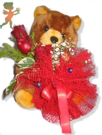 oyuncak ayi ve gül tanzim  Manisa online çiçekçi , çiçek siparişi