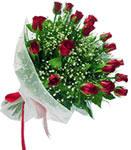 Manisa yurtiçi ve yurtdışı çiçek siparişi  11 adet kirmizi gül buketi sade ve hos sevenler