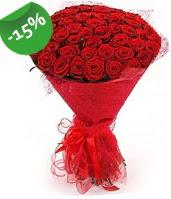 51 adet kırmızı gül buketi özel hissedenlere  Manisa güvenli kaliteli hızlı çiçek