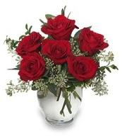 Vazo içerisinde 5 adet kırmızı gül  Manisa kaliteli taze ve ucuz çiçekler