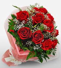 12 adet kırmızı güllerden kaliteli gül  Manisa İnternetten çiçek siparişi