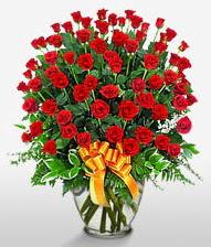 Görsel vazo içerisinde 101 adet gül  Manisa çiçek yolla