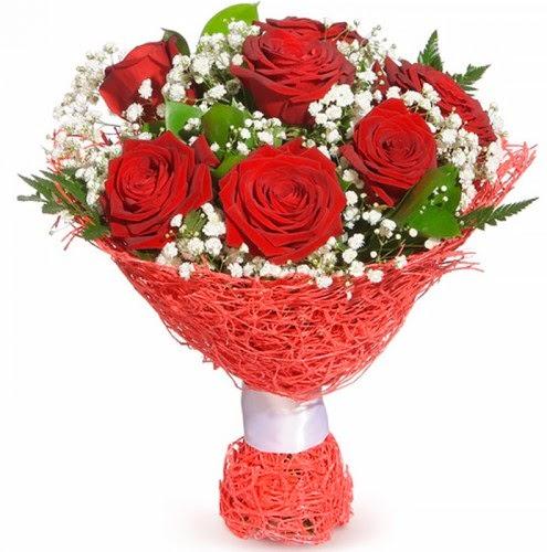 7 adet kırmızı gül buketi  Manisa online çiçekçi , çiçek siparişi