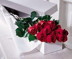 Manisa hediye sevgilime hediye çiçek  özel kutuda 12 adet gül