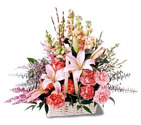 Manisa güvenli kaliteli hızlı çiçek  mevsim çiçekleri sepeti özel tanzim