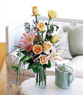 Manisa çiçek online çiçek siparişi  cam yada mika vazo içerisinde gül kazablanka