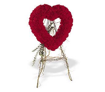 Manisa yurtiçi ve yurtdışı çiçek siparişi  karanfillerden kalp pano