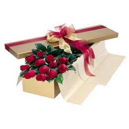Manisa çiçek gönderme  10 adet kutu özel kutu