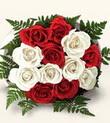 Manisa çiçek online çiçek siparişi  10 adet kirmizi beyaz güller - anneler günü için ideal seçimdir -
