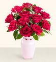 Manisa çiçek mağazası , çiçekçi adresleri  10 kirmizi gül cam yada mika vazo tanzim