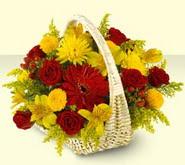 Manisa çiçek satışı  sepette mevsim çiçekleri