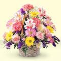 Manisa çiçekçi telefonları  sepet içerisinde gül ve mevsim