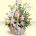 Manisa çiçek satışı  sepette pembe güller