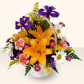 Manisa çiçek satışı  sepet içinde karisik çiçekler