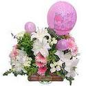 balon ve çiçeklerle tanzim  Manisa yurtiçi ve yurtdışı çiçek siparişi