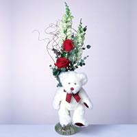 2 adet gül ve panda özel  Manisa kaliteli taze ve ucuz çiçekler