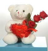 3 adetgül ve oyuncak   Manisa çiçek siparişi vermek