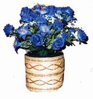 yapay mavi çiçek sepeti  Manisa çiçek gönderme