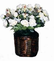 yapay karisik çiçek sepeti   Manisa çiçek yolla