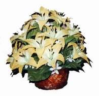 yapay karisik çiçek sepeti   Manisa güvenli kaliteli hızlı çiçek