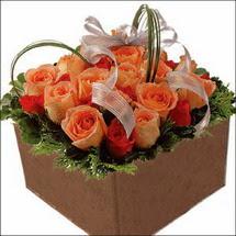 kare sandikta 11 gülllerden   Manisa kaliteli taze ve ucuz çiçekler