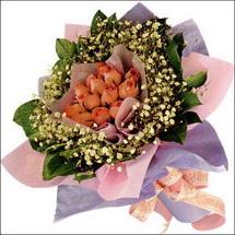 11  adet  gül ve   elyaflar   Manisa kaliteli taze ve ucuz çiçekler