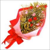 12 adet renkli  gül buketi   Manisa kaliteli taze ve ucuz çiçekler