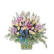 sepette kazablanka ve güller   Manisa 14 şubat sevgililer günü çiçek