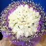 71 adet beyaz gül buketi   Manisa çiçek online çiçek siparişi