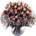 büyük cam fanusta güller   Manisa uluslararası çiçek gönderme