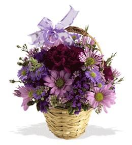 Manisa çiçekçi telefonları  sepet içerisinde krizantem çiçekleri