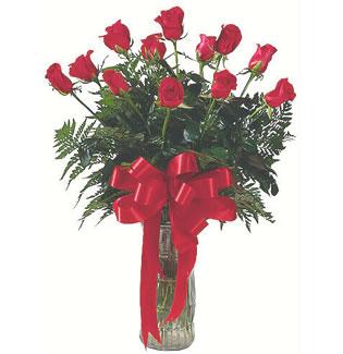 12 adet gül cam içerisinde  Manisa çiçek gönderme