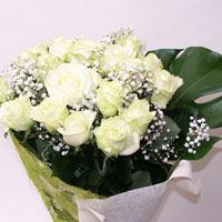 Manisa çiçek mağazası , çiçekçi adresleri  11 adet sade beyaz gül buketi