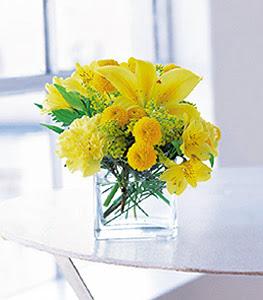 Manisa çiçek servisi , çiçekçi adresleri  sarinin sihri cam içinde görsel sade çiçekler