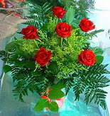 6 adet kirmizi gül buketi   Manisa çiçek gönderme sitemiz güvenlidir