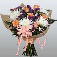 güller ve kir çiçekleri demeti   Manisa online çiçekçi , çiçek siparişi