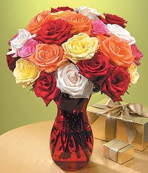 Manisa çiçek , çiçekçi , çiçekçilik  13 adet renkli gül