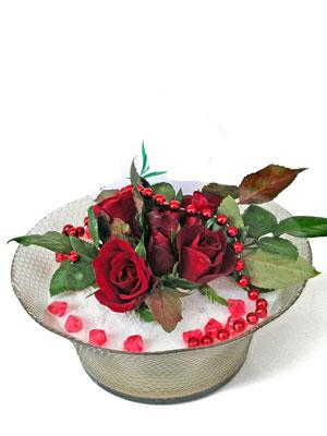 Manisa İnternetten çiçek siparişi  EN ÇOK Sevenlere 7 adet kirmizi gül mika yada cam tanzim