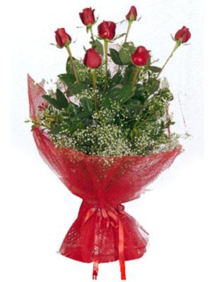 Manisa çiçekçi mağazası  7 adet gülden buket görsel sik sadelik