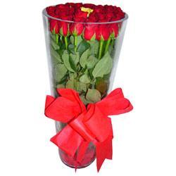 Manisa hediye çiçek yolla  12 adet kirmizi gül cam yada mika vazo tanzim