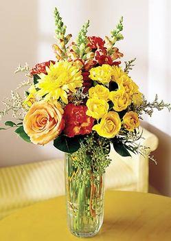 Manisa çiçek satışı  mika yada cam içerisinde karisik mevsim çiçekleri