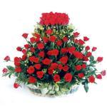 Manisa internetten çiçek satışı  41 adet kirmizi gülden sepet tanzimi