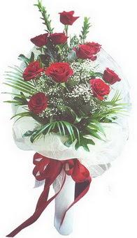 Manisa çiçek mağazası , çiçekçi adresleri  10 adet kirmizi gülden buket tanzimi özel anlara