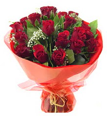 Manisa çiçek , çiçekçi , çiçekçilik  11 adet kimizi gülün ihtisami buket modeli
