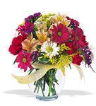 Manisa çiçek online çiçek siparişi  cam yada mika vazo içerisinde karisik kir çiçekleri