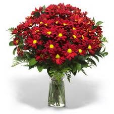 Manisa uluslararası çiçek gönderme  Kir çiçekleri cam yada mika vazo içinde