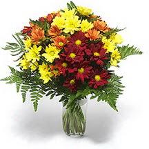 Manisa güvenli kaliteli hızlı çiçek  Karisik çiçeklerden mevsim vazosu
