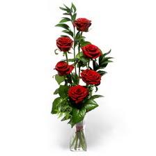 Manisa çiçekçi telefonları  mika yada cam vazoda 6 adet essiz gül