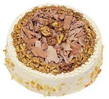 Karamelli 4 ile 6 kisilik yas pasta  Manisa uluslararası çiçek gönderme
