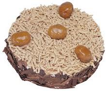 Kestahaneli yas pasta 4 ile 6 kisilik pasta  Manisa güvenli kaliteli hızlı çiçek